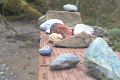 days spent collecting our creek rocks